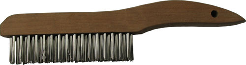 "Coplay Norstar WBSH15 Carbon Steel, Shoe Handle Brush - 1"" x 10"" long (Bristle 4 x 17). Packaging: 12/box"